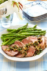 Roasted Lamb with California Walnut Salsa