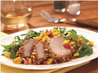 Almond Crusted Pork with Mango Relish