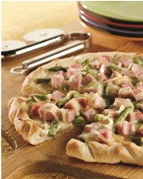 Cured Ham and Asparagus Pizza